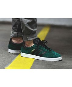 on sale dec6f 09295 Adidas Gazelle Mens Trainers In Green Black Adidas Gazelle Green, Adidas  Gazelle Mens, Grey