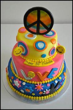 60's Style ....50th Birthday cake :)