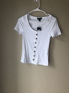New Look White Vest Cotton Scoop Top BNWT New With Tags Size 10