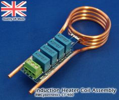 A compact coil assembly for use in induction heating or other resonant applications. The coil is made from four turns of copper pipe which allows it to be w