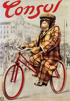 Consul | Bicycle vintage advert | Cycles retro poster | #Bicycles #Bicycling #bike #biking #cycling  #Posters #S.XX #Vintage #retro