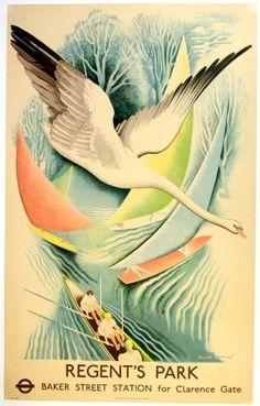 London Underground Regent's Park, 1937 - original vintage poster by Frank Ormrod listed on AntikBar.co.uk