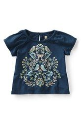 Tea Collection 'Uccelli' Graphic Tee (Baby Girls)