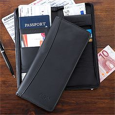 First Class Debossed Travel Case - This is a MUST HAVE for all travelers! You can keep all of your important documents safe and secure in one place so you can explore your destination with confidence! It can hold your passport, ID, credi cards, tickets, check, money and everything!