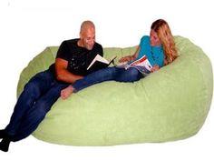 Cozy Sack Bean Bag Chair LIME - Large 8'