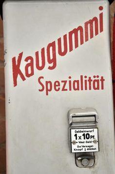 Historischer Kaugummiautomat