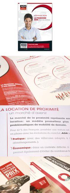 #Brochure #ada (location de véhicule) #voiture #edition #identite #graphisme #design - réalisé par #axellescom
