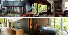 This dark brick home has made a life for itself in the forest | CONTEMPORIST