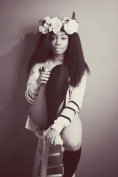 black girl flowercrown