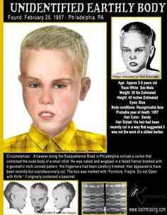 This little boy was found in a box in 1957 he has never been identified to this very day and even though he hasn't been named I will remember him always you were a precious little boy to me, even though I didn't know you, Sleep tight my darling😔 x Creepy History, Strange History, History Facts, Creepy Facts, Fun Facts, Creepy Things, Short Creepy Stories, Ghost Stories, British History