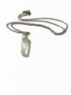 Clear Quartz Crystal Necklace Clear Crystal by JulemiJewelry