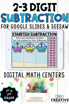 Check out these DIGITAL math activities for teaching 2 -3 digit subtraction for Google Classroom