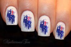 Australia flag nails #Australiaday2015