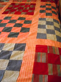 Homemade Vintage Quilt Top bright bold multi by vintagefinds61, $24.00