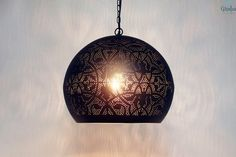 Oosterse lamp Maya Zwart licht