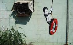 Banksy graffiti art swinger in new orleans iron on t shirt transfer or sticker Banksy Graffiti, Arte Banksy, Banksy Artwork, Street Art Banksy, Bansky, 3d Street Art, Famous Graffiti Artists, Street Artists, Central Park