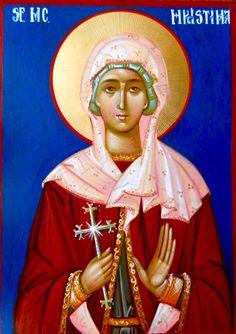 Christina of Tyre - July 24 (by Elena Cerasela Ciuca) Santa Cristina, Sweat Lodge, Religious Images, Orthodox Icons, Catholic, Saints, Princess Zelda, Sf, July 24