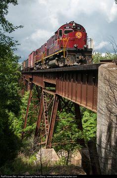 RailPictures.Net Photo: AM 44 Arkansas & Missouri Railroad Alco C420 at Winslow, Arkansas by Steve Barry / www.railroadphotographer.com