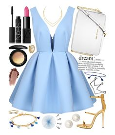 """modern day cinderella"" by kk-purpleprincess ❤ liked on Polyvore featuring Kate Spade, Michael Kors, Lana, Shashi, Giuseppe Zanotti, NARS Cosmetics, MAC Cosmetics, Roberto Cavalli, Tisch New York and Old Navy"