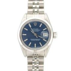 @Overstock - This beautiful Pre-owned Rolex Women's stainless steel Datejust features a stainless steel bezel for a smooth and polished look.http://www.overstock.com/Jewelry-Watches/Pre-owned-Rolex-Womens-Datejust-Stainless-Steel-Blue-Dial-Watch/6383267/product.html?CID=214117 $3,499.99