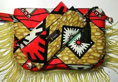 Boho chic african clutch set