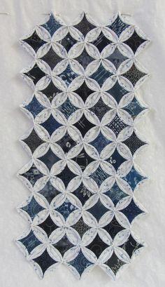 Tela de batik algodón acolcha Artesanal Bosque Azul De Costura
