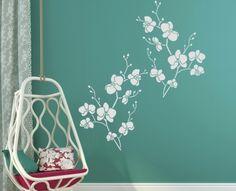 Malířská dekorační šablona Orchidea #sablonanamalovani#malirskasablona#malovanijehra#profikbehemchvilky#malovanisten#sablonynazed#orchid#orchidej Decals, Color, Home Decor, Tags, Decoration Home, Room Decor, Sticker, Colour, Decal