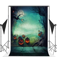 Halloween Photo Studio Background Props Fabric Cloth Collapsible Backdrop, Light Green Pumpkin Wood Background for Photography Halloween Photography Backdrop, Halloween Backdrop, Background For Photography, Photography Backdrops, Halloween Moon, Halloween Photos, Halloween Ideas, Halloween Decorations, Moon Photography