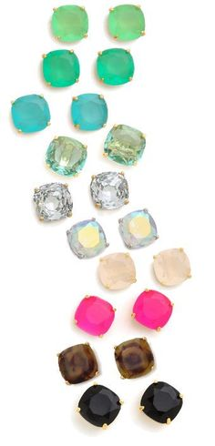 Colorful Kate Spade Studs, any fun/pretty colors. Just not plain diamonds cause I already have those. Available at outlets