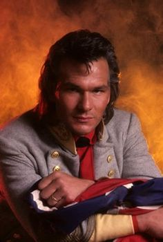 For whatever reason, I love this picture. Patrick Swayze + flame background = yes