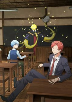 Ansatsu Kyoushitsu/Assassination Classroom, Key Visual 2 Assassination Classroom The Movie: 365 Days, Koro-sensei, Shiota Nagisa, Akabane Karma/// I just finished this today i cried Manga Anime, Anime Body, Got Anime, I Love Anime, Karma Kun, Nagisa And Karma, Otaku, Koro Sensei Quest, Anime Quotes Tumblr