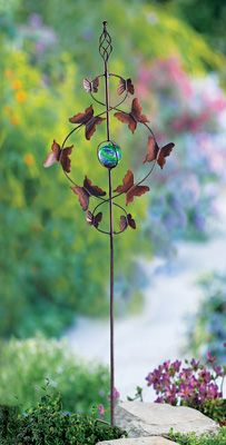 Flying Butterflies Garden Stake Spinner