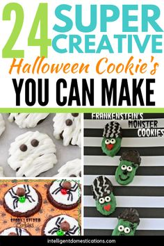 24 Super Creative Halloween Cookie recipes and ideas. No they are not all from scratch which is wonderful. Sometimes a few little decorating tricks are all you need to treat the kiddos with a Halloween dessert. Halloween Cookie Recipes, Halloween Snacks For Kids, Halloween Cookies, Halloween Desserts, Halloween Halloween, Candy Bar Cookies, Cupcake Cookies, Cookie Dough Cake Pops, Chocolate Chip Cookie Pizza