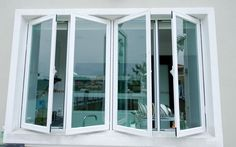 A casement can be described as a window that is fastened to its frame using hinges. Awning windows are windows fastened to the frame with hinge. Aluminum Windows Design, Aluminium Windows And Doors, Glass And Aluminium, Sliding Windows, French Casement Windows, Window Grill Design, Window Planters, Art Deco, House Windows