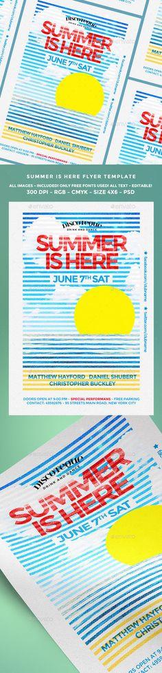 Summer Flyer — Photoshop PSD #print #beach • Download ➝ https://graphicriver.net/item/summer-flyer/19755382?ref=pxcr