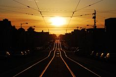 golden hour photography of busy road during daytime Inner Sunset San Francisco Line Photography, Types Of Photography, Nature Photography, Train Pictures, Free Pictures, Free Images, Sunset Wallpaper, Pavement, Golden Hour