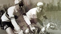 Louison Bobet with his brother Jean Bobet.