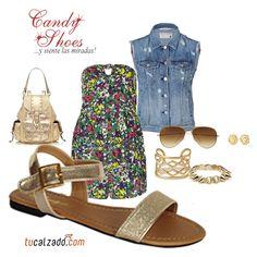 ¡Añádele brillo a tu look! www.tucalzado.com #Moda #Sandalias #Tendencias #GoodLook #Zapatos Estilo
