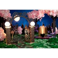 A Night in the Park Complete Theme Gala Themes, Prom Themes, Starry Night Prom, Prom Night, New York Theme Party, Balloon Tree, Daddy Daughter Dance, Prom Decor, Night Garden