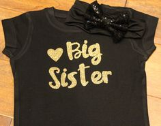 A personal favorite from my Etsy shop (null) Big Sister Big Brother Shirts, My Etsy Shop, Glitter, T Shirts For Women, Trending Outfits, Celebrities, Sweatshirts, Sweaters, How To Wear