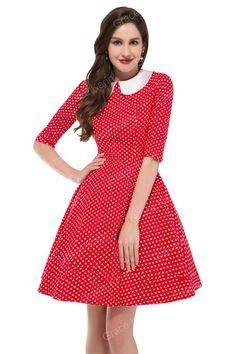 4 Colors Grace Karin Casual Audrey hepburn Plus Size 50s 60s Dress Rockabilly Sewing Half Sleeve Autumn Dresses Cotton H006088 Alternative Measures