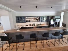 A Home Bar is a popular project in every modern home. Improving your home is always a good thing to do. You are bringing something new and fresh. Kühn Houtwerke is situated in the Boland, Cape Winelands area. We specialize in kitchen cupboards, bedroom cupboards, solid woodworking, custom furniture and much more. For quotations please email us at khoutwerke@icon.co.za or visit our page. Bedroom Cupboards, Kitchen Cupboards, Grey Oak, Bar Counter, Custom Furniture, Improve Yourself, Woodworking, Wine Cellars, Quotations