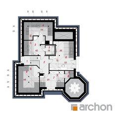 Projekt domu Dom pod juką 4 - ARCHON+ Village House Design, Village Houses, Bungalow Style House, 3d House Plans, House Construction Plan, Plans Architecture, Good House, Design Case, Minimalist Home