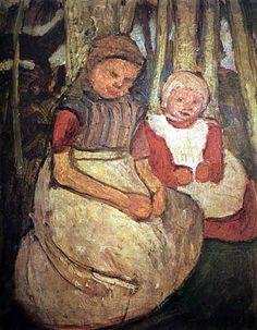 Paula Modersohn-Becker - Two girls in a Birch forest