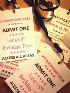 Rock Star Party Invites / Lanyards Foodie Quine: There ain't no party like a Rock Star Party