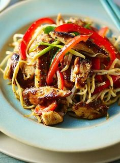 Low FODMAP Recipe and Gluten Free Recipe - Chicken chow mein  http://www.ibssanoplus.com/chicken_chow_mein.html