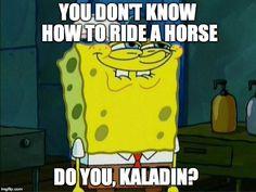 Kaladin/Horse Meme
