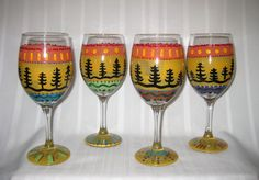 hand-painted glassware for your special theme or decor $28 per piece or $25 for set of two or more glassware pieces includes wine, beer mug, pilsner or martini. coordinating pitchers also available