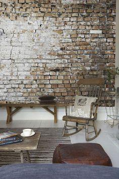 stenen muur woonkamer - Google zoeken