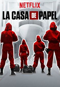 La Casa De Papel-Money Heist (Netflix-April 6, 2018) Season 2-crime/drama, thriller created by Alex Pina. A mysterious man, El Profesor, plans a big heist. The ambitious plan; recruiting a gang of 8 people with certain abilities, nothing to lose. The goal; enter the Royal Mint of Spain, print 2.4 billion euros. They need eleven days of seclusion, deal with sixty-seven hostages, an elite police force. Stars: Úrsula Corberó, Miguel Herrán, Itziar Ituño, Alvaro Morte. In Spanish/English…